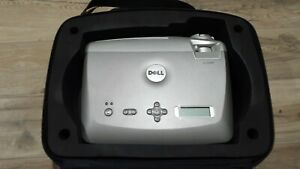Dell 4100MP DLP Projector Tested 287 Lamp Hours, Case Remote & Cables low hours