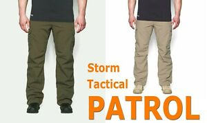 MENS UNDER ARMOUR UA TACTICAL PATROL PANTS II STORM CARGO GREEN BROWN 1265491