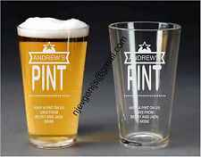 Personalised Engraved Big Star Pint Glass Birthday Party Gift by jevge 24