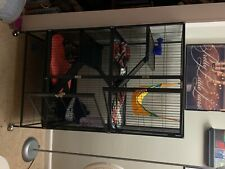 ferret cage large includes everything needed and ferret
