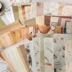 30pcs Mixed Retro Collage Paper Set Scrapbooking Background Album Card Supplies