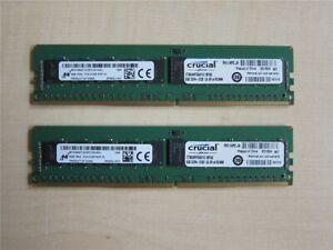 2x 8 GB Crucial DDR4-2133 reg ECC CT8G4RFS4213.18FA2