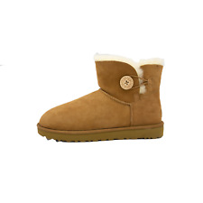 UGG Mini Bailey Button II Womens Chestnut Winter Boots Size 11 Authentic