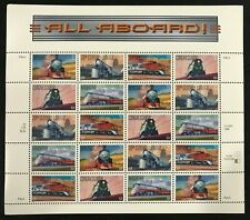 1999 Scott #3333-3337 - 33¢ - TRAINS - Full Sheet of 20 - Mint NH