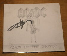 AC/DC ~ FLICK OF THE FULLY SWITCH ~ HAND SIGNED UK CD AUTOGRAPH ANGUS YOUNG