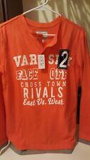 NWT Boy's XL 14 The Children's Place Orange Long Sleeve T-Shirt