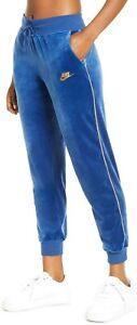 Nike Womens Sportswear Velour Heritage Sweatpants Jogger Pants BV5035-407 Sz L