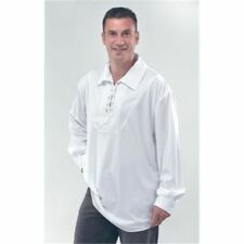 Mens Pirate Shirt White Costume for Sailor Buccanneer Fancy Dress Outfit Adult