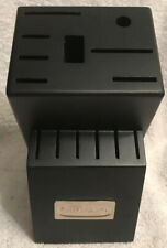 CUISINART BLACK WOOD Storage Knife Block 14 Slot Previously Owned