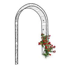Rosenbogen verziert Blatt Torbogen Eisen Rankhilfe Rankgitter Gartenbogen Rosen