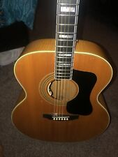 Guild F50 1976 Waverly R.I. Acoustic Guitar Blonde Read! With Original Case