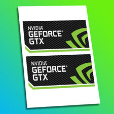 NVIDIA GEFORCE GTX 1050 1060 1070 1080 PC Computer Custom Gaming Decals Stickers