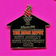1996 OLYMPIC HOME DEPOT PIN SHAPED LIKE A HOUSE WITH TORCH PIN