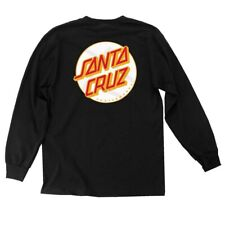 Santa Cruz Other Dot Long Sleeve Skateboard Shirt Black w/White Dot Xxl