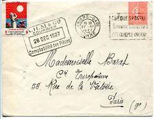 semeuse 199 sur lettre avec vignette anti tuberculeux TTB