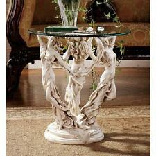 The Three Graces Sculpture Glass Console Table 20""