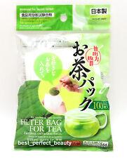 DAISO JAPAN EMPTY LOOSE LEAF TEA FILTER BAG M 9.5 X 7 CM MADE IN JAPAN 100 pcs