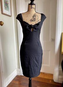 Pilgrim Womens Size 8 Black Shade Dress - Made in Australia