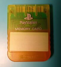 Official Sony Playstation 1 PS1 Carte mémoire translucide jaune 1020 1mo 1mb