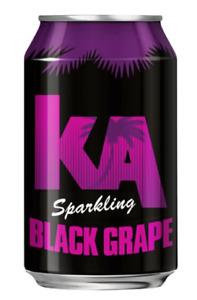 KA Sparkling Black Grape Cans, 330 ml, Pack of 24