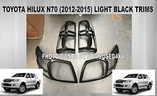Toyota Hilux N70 2014 TRD SR Workmate Black Headlight Tail Light Trims Covers