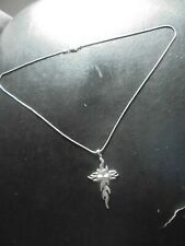 FLAMING CROSS 925 SILVER PENDANT AND CHAIN HORROR GOTHIC