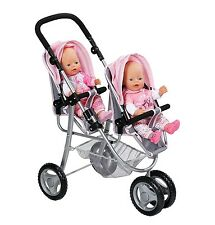Baby Born Twin Jogger Twins Pushchair Double Dolls Buggy BRAND NEW