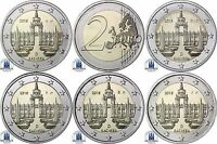 Deutschland 5 x 2 Euro Dresdner Zwinger 2016  Mzz A D F G J bankfrisch