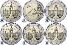 Deutschland 5 x 2 Euro 2016 bfr. Bundesländer Serie: Dresdner Zwinger Mzz. A - J
