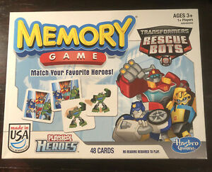 Playskool Heroes Transformers Rescue Bots Memory Game 48 Pieces