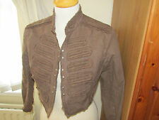 steampunk costume victorian gypsy cosplay pirate lagan brown jacket  8 10
