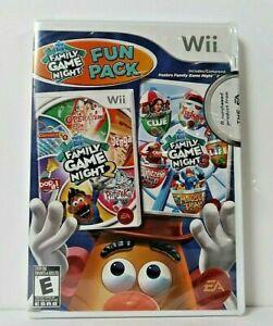 Hasbro Family Game Night Fun Pack (Nintendo Wii, 2011) **New Sealed torn plastic
