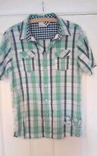 2 Boys Shirts, Animal check, Navy Dog Print chest 38 inches BXL