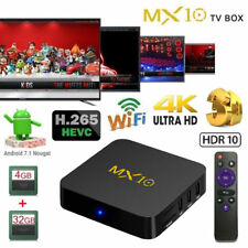 New MX10 Android 8.1 Smart TV Box 4GB/32GB RK3328 4K 3D WiFi HD Media Player UK