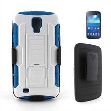 Blue Box Kickstand Case Holster Belt Clip For Samsung Galaxy S4 Active i537+Pen