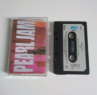 PEARL JAM TEN CASSETTE TAPE 1991 PAPER LABEL EPIC SONY