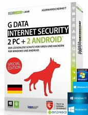 G data internet security 2016 version complète 2 pc + 2 Android + Guide (pdf) NEUF