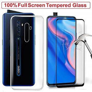 For OPPO Reno 2 Tempered Glass Screen Protector +Clear Case Cover OPPO Reno 2 2Z