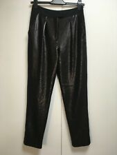 NEW Whistles black sequin trousers stretchy tapered evening pockets 8