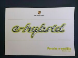 Porsche e-hybrid Sales Brochure - 55 Pages !