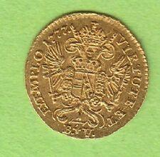 GOLD Habsburg 1/4 Dukat 1777 G Nagybanya toll erhalten selten nswleipzig