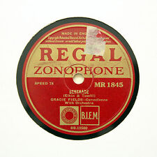 """GRACIE FIELDS """"Serenade / Laugh Clown, Laugh"""" REGAL ZONOPHONE MR-1845 [78 RPM]"""