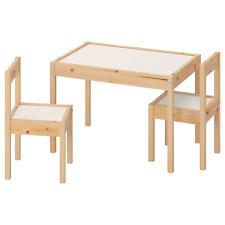 IKEA LÄTT Kindertisch mit 2 Stühlen, weiß, Kiefer Kindersitzgruppe NEU & OVP