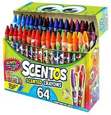 Scratch Sniff Scentos Scented Crayons Box Set of 64 Autism Sensory + Bonus Card