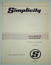 Simplicity 42 No 795 Snow Plow Dozer Blade Owners Parts Manual Original
