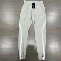 Nike Air Jordan Alpha Dry Joggers Tapered Dri-Fit Pants 889711-334 Fog Men's