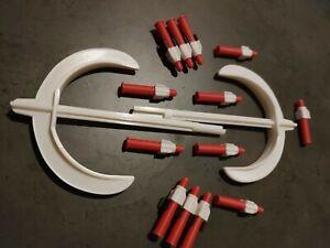 2 Haches 13 Missiles 2 Supports Goldorak Axes Shogun Warrior Grendizer Mattel