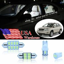 13-pc Bright White LED Lights Interior Package Kit For Lexus RX330 RX350 RX400h