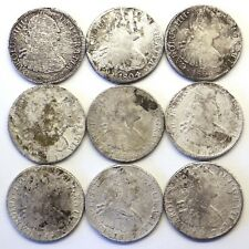 "9 Shipwreck Colonial Mexico 1800-1807 8 Reales: 1807 ""Caribbean"" Waters Wreck"