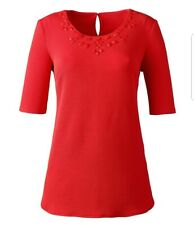 Anthology Jewel Easy Top In Easycare Fabric Tomato Red Size 12